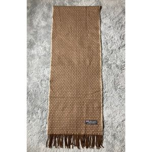 Vintage cashmere brown and tan scarf
